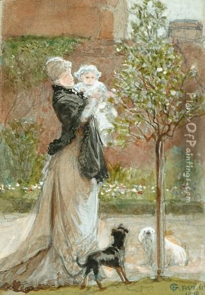 Study For The Time For Roses Oil Painting - Frederick Goodall