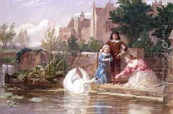The Children of Charles I Oil Painting - Frederick Goodall