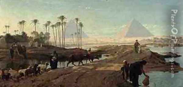 The Subsiding of the Nile Oil Painting - Frederick Goodall