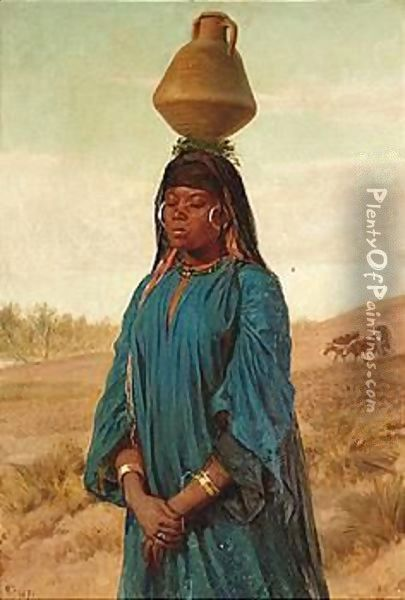 The Water Carrier Oil Painting - Frederick Goodall