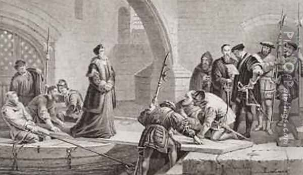 Thomas Cranmer 1489-1556 at the Traitors Gate Oil Painting - Frederick Goodall