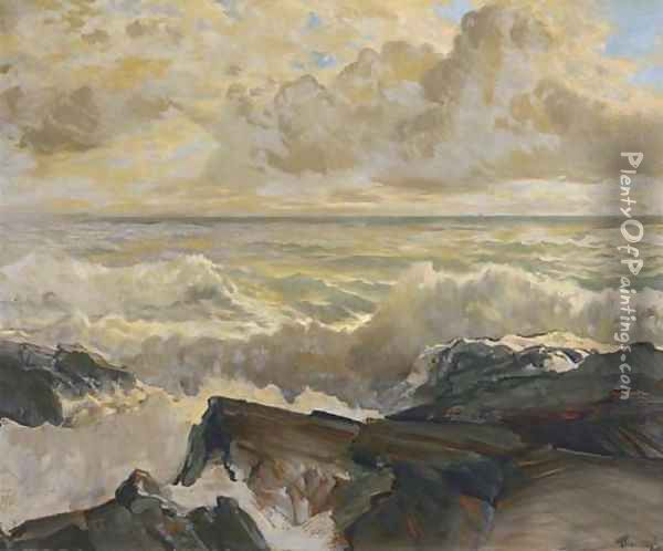 Crashing Surf Oil Painting - Frederick Judd Waugh