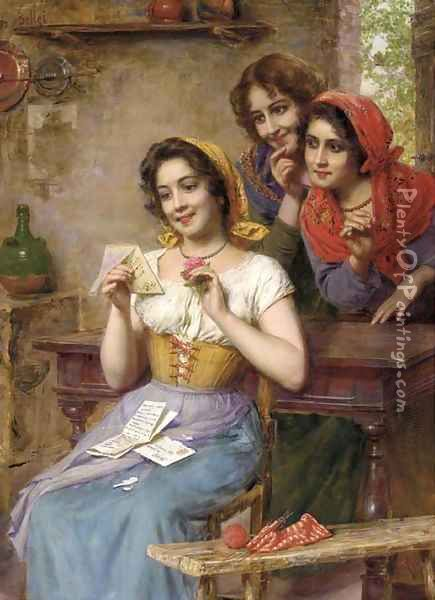 The Love Letter Oil Painting - Gaetano Bellei
