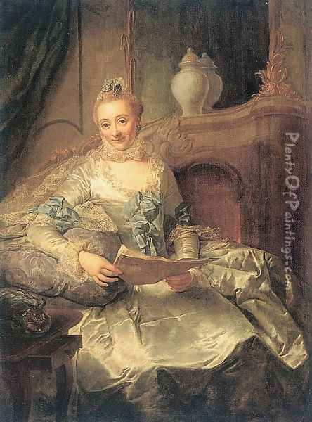 The Wife of Joachim Ulrich Giese 1762-64 Oil Painting - Georg David Matthieu