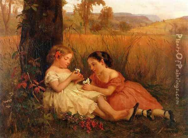 He Loves Me, He Loves Me Not Oil Painting - George Cochran Lambdin