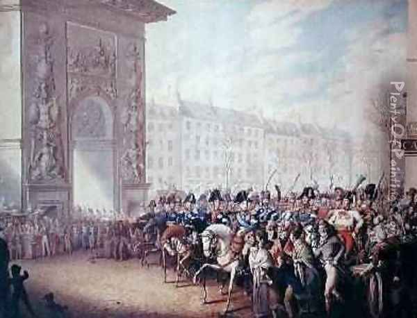 The Entrance of the Emperors into Paris Oil Painting - George Emmanuel Opitz