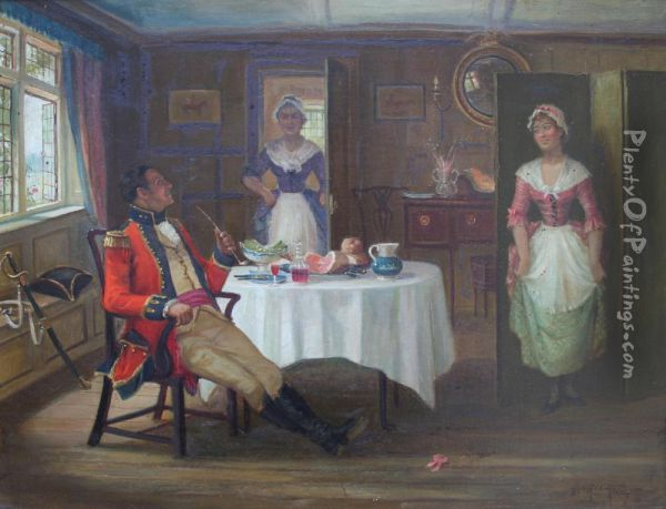 Nonchalance Oil Painting - George Fox