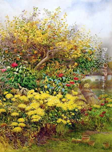 The Tangle of Autumn Temple Grafton Warwicks Oil Painting - George H. Hughes