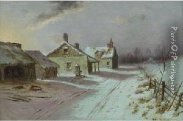 A Winter's Afternoon Oil Painting - George Herbert McCord