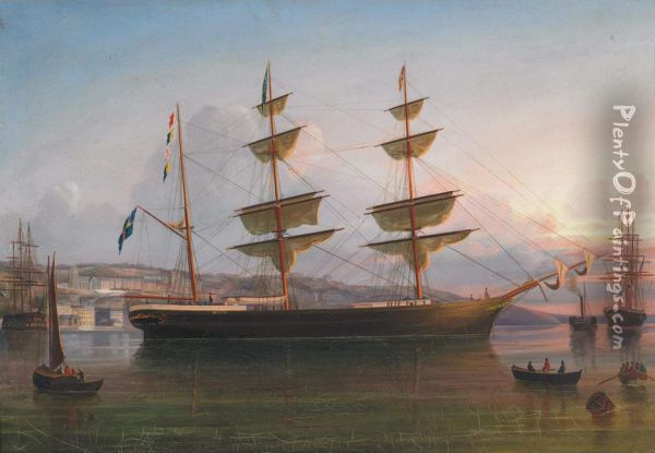 The Eugenie Off Queenstown Oil Painting - George Mounsey Wheatley Atkinson
