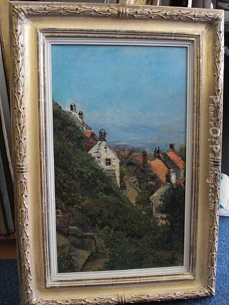 20th Century, View Of Whitby Oil Painting - George Wainwright Harvey