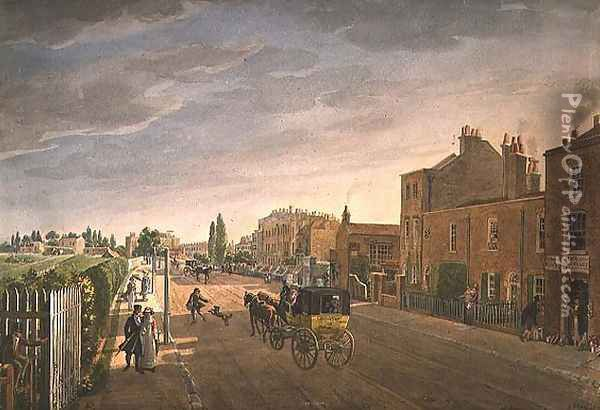 Brompton, London, 1822 Oil Painting - George the Elder Scharf