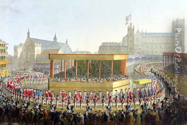 Coronation Procession of George IV, 1821 Oil Painting - George the Elder Scharf