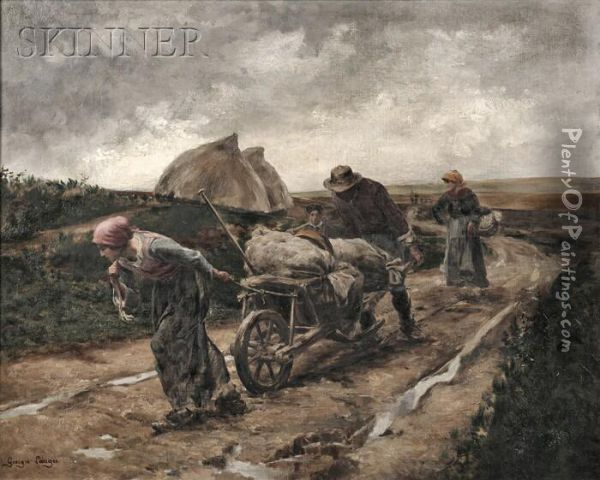 The Harvest Oil Painting - Georges Laugee