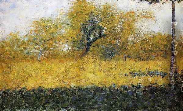 Edge Of Wood Springtime Oil Painting - Georges Seurat