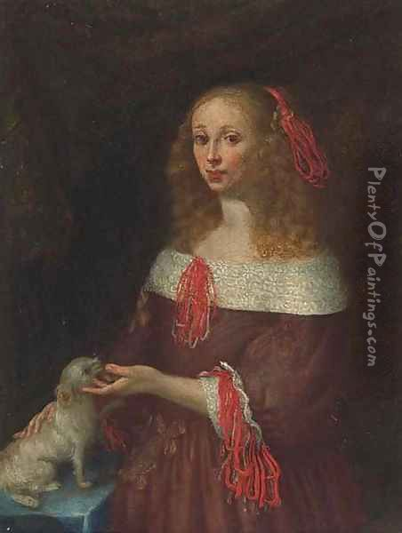 Portrait of a lady 2 Oil Painting - Gerard Ter Borch