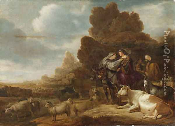 The Parting of the Family of Abraham from the Family of Lot Oil Painting - Gerrit Claesz Bleker