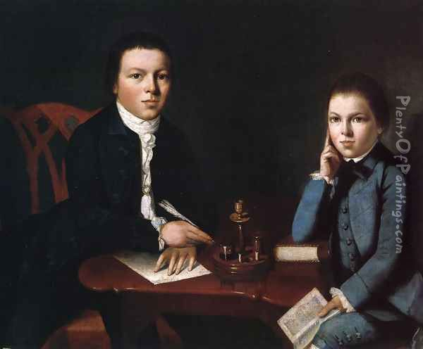 Francis Malbone and His Brother Saunders Oil Painting - Gilbert Stuart