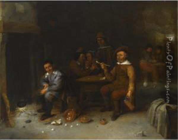 Figures In An Inn, One Smoking, 