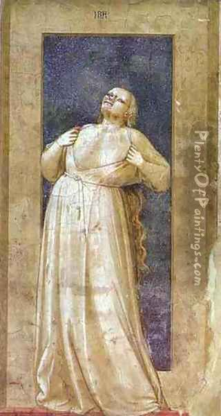 Anger 1302-1305 Oil Painting - Giotto Di Bondone