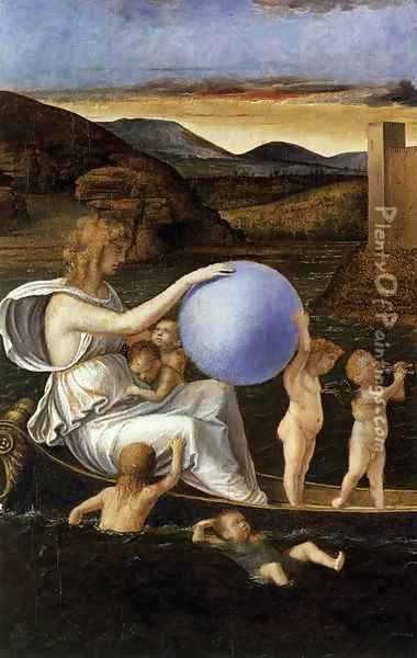Four Allegories Fortune (or Melancholy) Oil Painting - Giovanni Bellini
