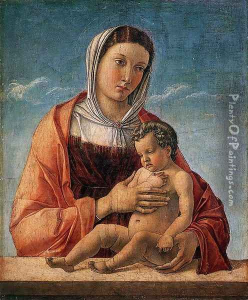 Madonna with the Child 1460-64 Oil Painting - Giovanni Bellini
