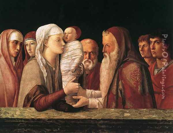 Presentation at the Temple 1460-64 Oil Painting - Giovanni Bellini