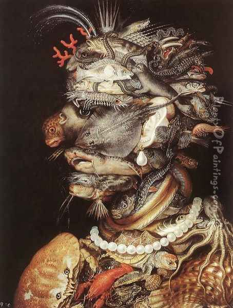 The Water The Water 1563-64 Oil Painting - Giuseppe Arcimboldo