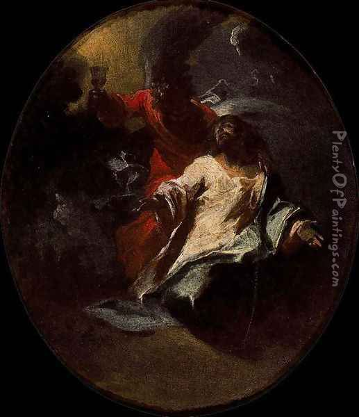 The Agony of Christ in the Garden Oil Painting - Giuseppe Bazzani