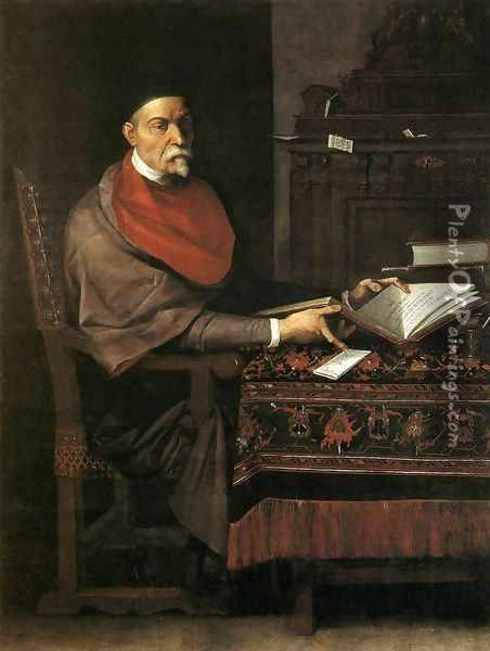 Portrait of Prospero Farinaccio Oil Painting - Giuseppe Cesari