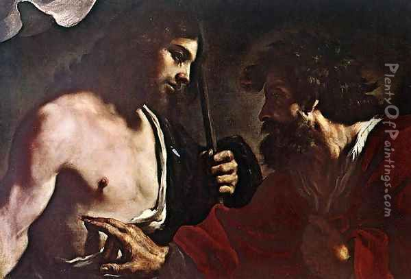 Doubting Thomas Oil Painting - Guercino