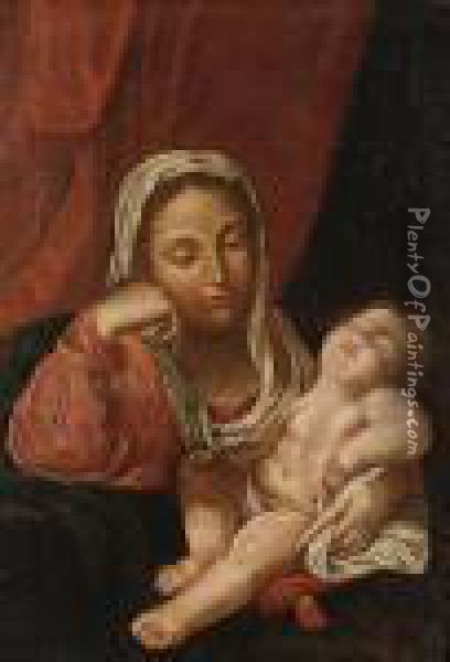 The Madonna And Child Oil Painting - Guido Reni