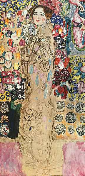 Portrait of a Lady (unfinished) 1917-18 Oil Painting - Gustav Klimt