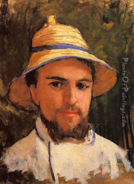 Self Portrait (fragment) Aka Self Portrait Wearing A Summer Hat Oil Painting - Gustave Caillebotte