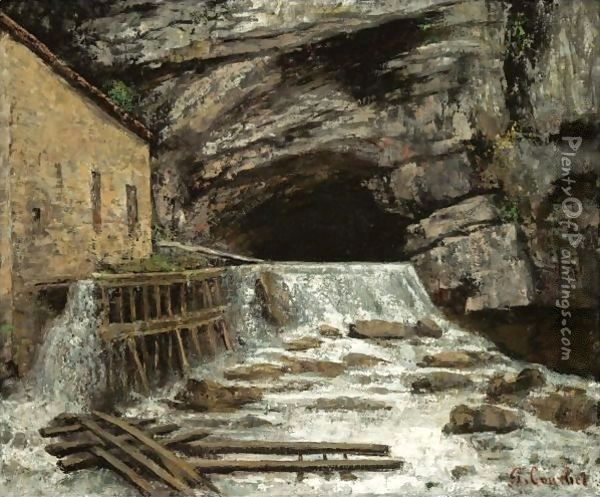 La Source De La Loue Oil Painting - Gustave Courbet