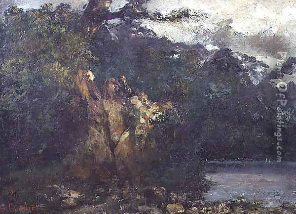 Swiss Landscape Oil Painting - Gustave Courbet
