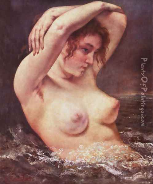 The Woman in the Waves Oil Painting - Gustave Courbet