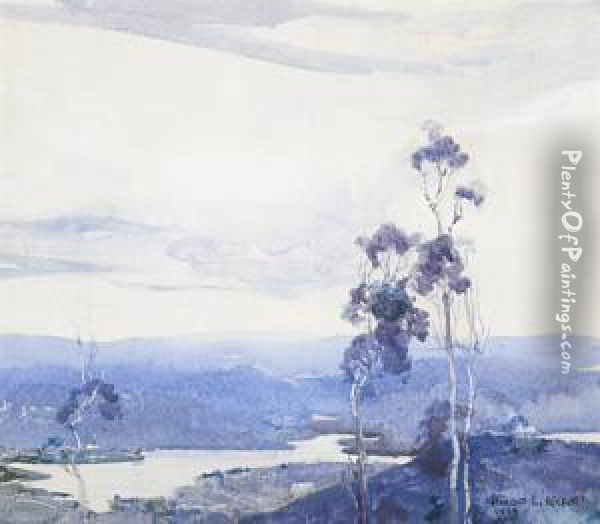 Winter Landscape, Kiewa Valley Oil Painting - Harold Brocklebank Herbert
