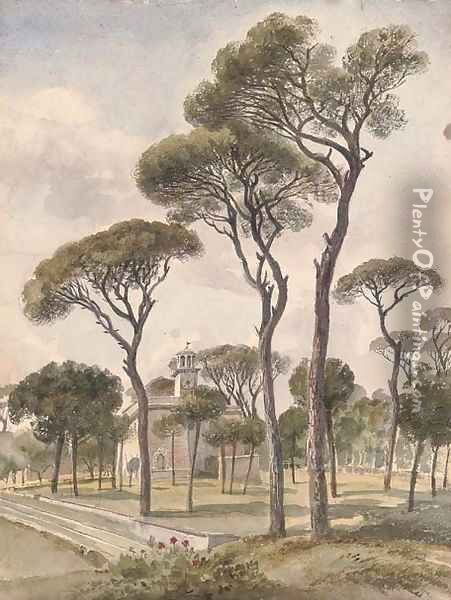 The Villa Borghese, Rome 2 Oil Painting - Harriet Cheney