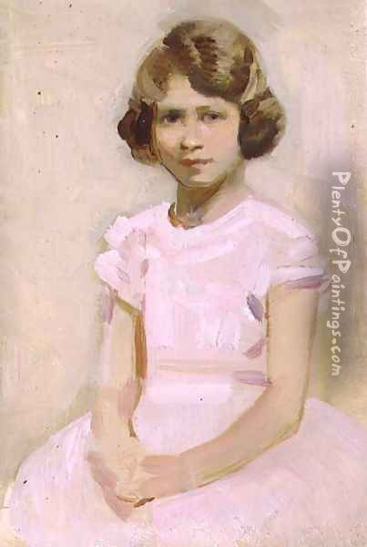 H.M. The Queen as Princess Elizabeth Oil Painting - Harry Watson
