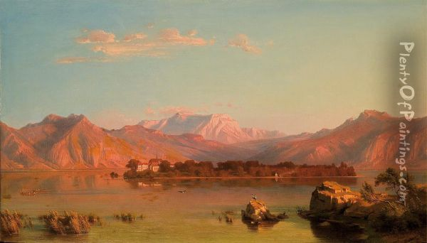 View On The Herreninsel Chiemsee Oil Painting - Heinrich Funk