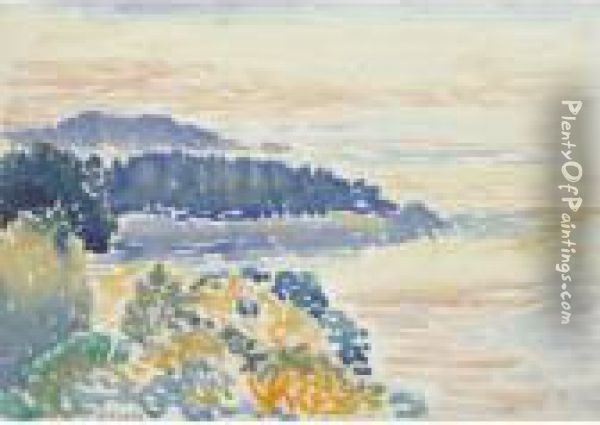 Bord De Mer Oil Painting - Henri Edmond Cross