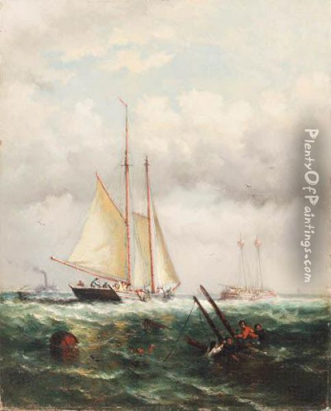 The Rescue Oil On Canvas Oil Painting - Henri Hendrik Maes /