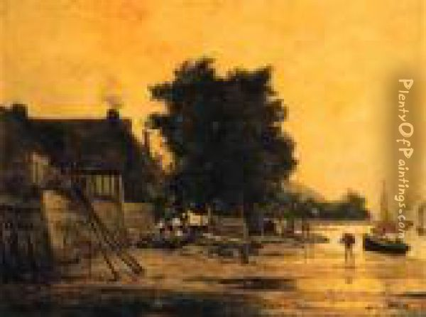The End Of The Day Oil Painting - Henri-Joseph Harpignies