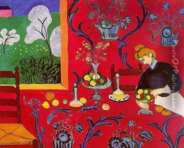 Harmony in Red Oil Painting - Henri Matisse