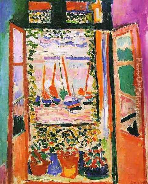 Open window at Collioure Oil Painting - Henri Matisse