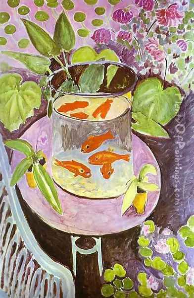 Red Fish Oil Painting - Henri Matisse