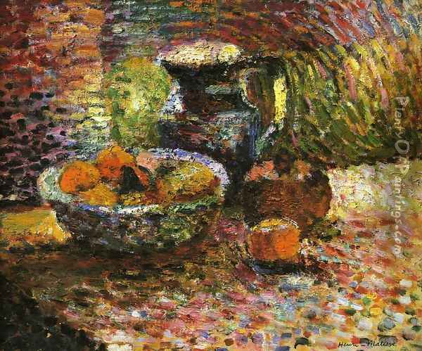 Still Life with Pitcher and Fruit Oil Painting - Henri Matisse