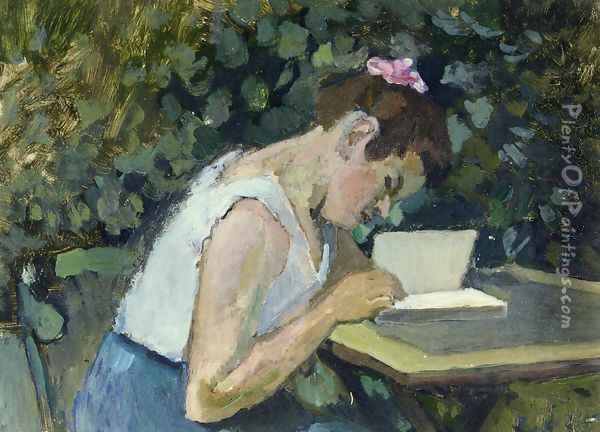 Woman Reading in a Garden Oil Painting - Henri Matisse