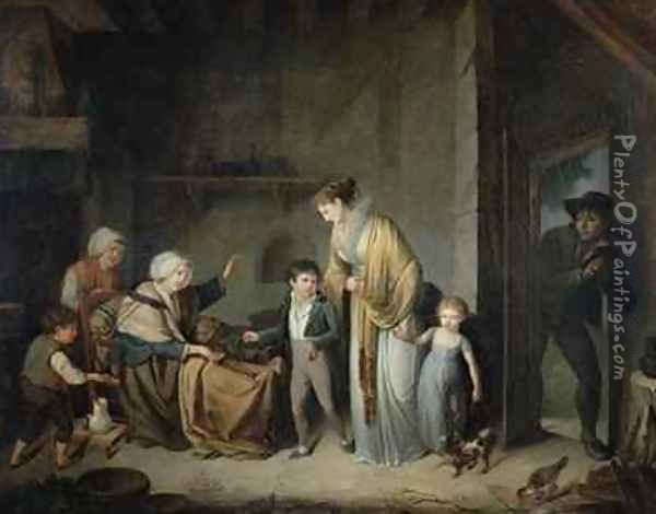 The Lesson in Charity Oil Painting - Henri-Nicolas Van Gorp